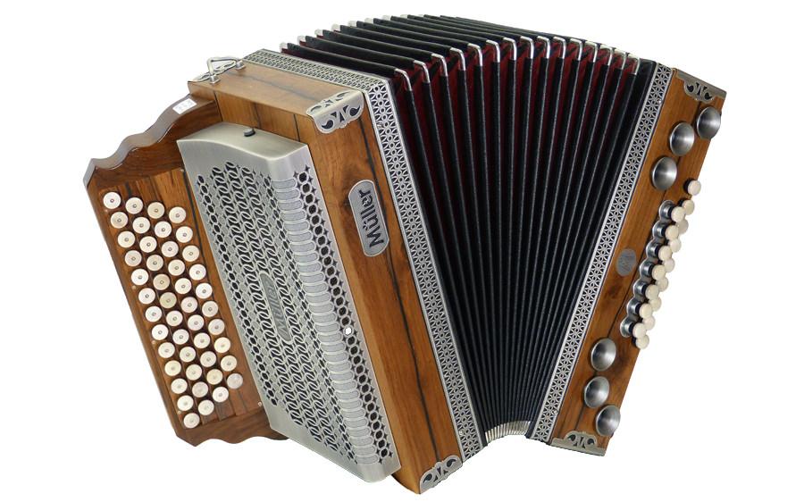 Steirische Harmonika Müller Massiv Eiche Antik
