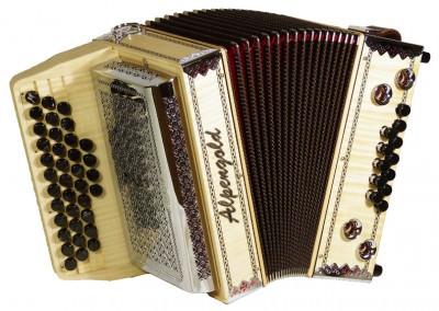 Steirische Harmonika Alpengold Sinova Junior 23 Ahorn