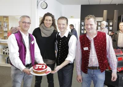 Rumberger-Brüder mit Katja Deutscher