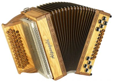 Steirische Harmonika Alpengold Stubach Klassik Natur Olive
