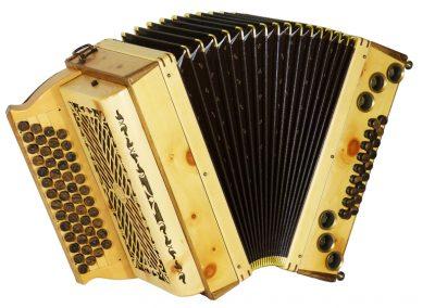 Steirische Harmonika Alpengold Stubach Klassik Natur Zirbe
