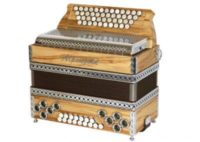 Steirische Harmonika Alpengold Stubach Klassik Satin Nuss