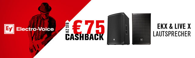 Cash-Back bei EV (Electro-Voice)