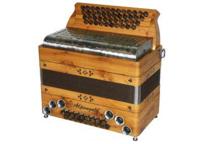 Steirische Harmonika Alpengold Tirol 2 Eibe - Metallverdeck