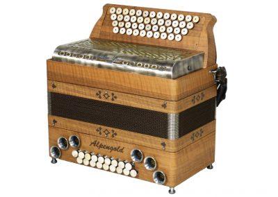 Steirische Harmonika - Alpengold Tirol 2 Nuss - Metallverdeck