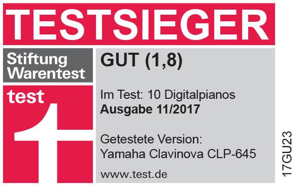 Yamaha CLP-645 TESTSIEGER bei Stiftung Warentest (11/2017)
