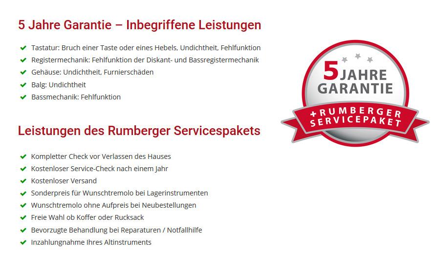 Garantie und Serviceleistungen