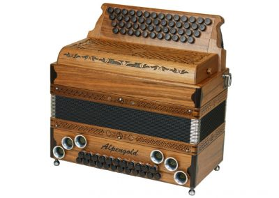 Steirische Harmonika Alpengold Original 50/23 Nuss