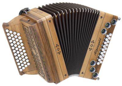 Steirische Harmonika Alpengold Tirol 2 - Nuss