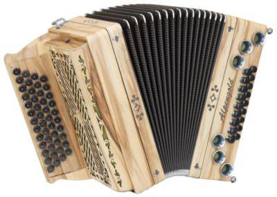Steirische Harmonika Alpengold Tirol 2 Satin Nuss