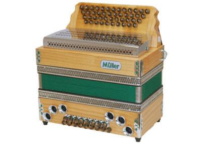 Steirische Harmonika Müller Jubiläum - grün
