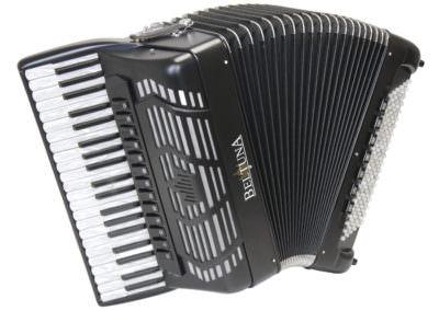 Akkordeon Beltuna Prestige V 120 Compact - schwarz matt