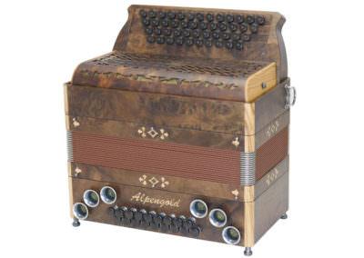 Steirische Harmonika Alpengold Tirol 2 Wurzel Nuss / Olive
