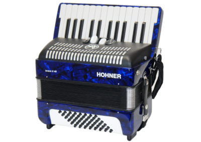 Gebrauchtes Akkordeon Hohner Bravo II 48, blau