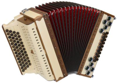 Steirische Harmonika Alpengold Original 50/18 Tonholzfichte