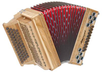 Steirische Harmonika Alpengold Original 50/18 Satin Nuss
