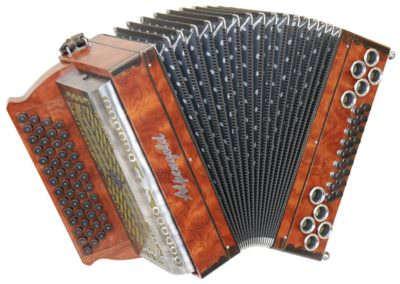 Steirische Harmonika Alpengold Stubach Premium Natur - Bubinga