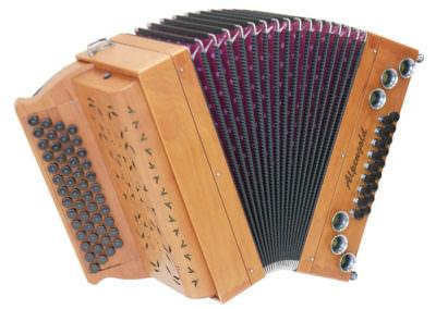 Steirische Harmonika Alpengold Stubach Premium Natur - Zwetschge
