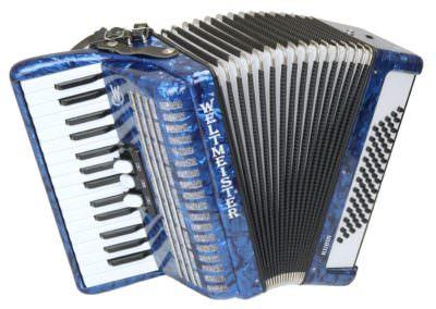 Gebrauchtes Akkordeon Weltmeister Rubin - blau