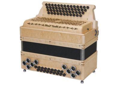 Steirische Harmonika Alpengold Original 50/18 Ahorn