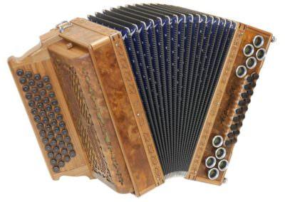 Steirische Harmonika Alpengold Original 50/18 Wurzel Nuss