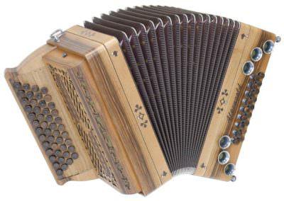 Steirische Harmonika Alpengold Tirol 2 Nuss