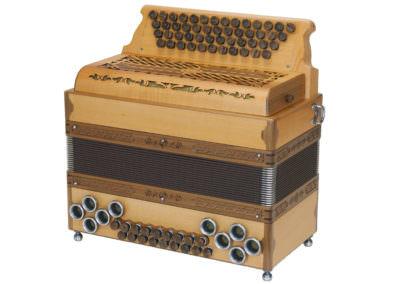 Steirische Harmonika Alpengold Original 50/18 Apfel Nuss - Rumberger Edition