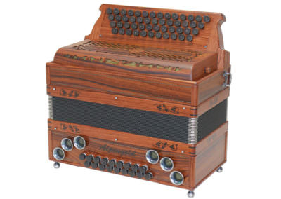 Steirische Harmonika Alpengold Original 50/18 Santos Palisander - Rumberger Edition