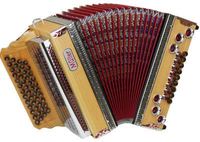 Steirische Harmonika Müller Klippitz - rot