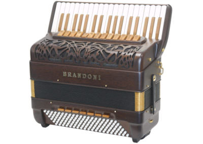 Akkordeon Brandoni Mod. 147W LI - Gold Stained Mahagony-Black