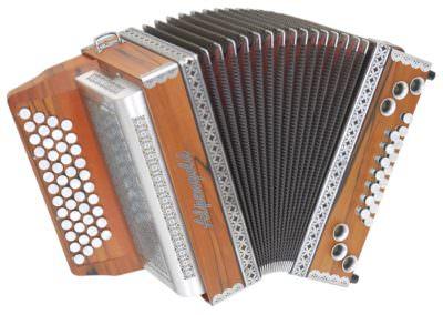 Steirische Harmonika Alpengold Sinova Junior 24 Plus Indischer Apfel