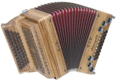 Steirische Harmonika Alpengold Tirol 2/2 Nuss