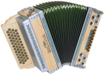 Steirische Harmonika Beltuna Alpstar IV D Esche Spezial - grün