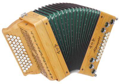 Steirische Harmonika Alpengold Tirol 2 Eibe - Hirschhorn