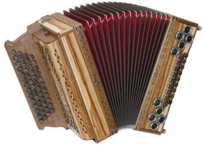 Steirische Harmonika AR 50/18 DH - Satin Nuss