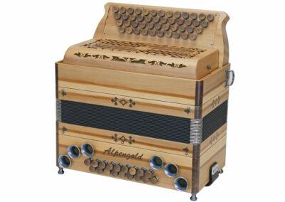 Steirische Harmonika Alpengold Tirol 2/2 Compact Satin Nuss