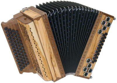 Steirische Harmonika AR 50/18 DH - Olive/Nuss
