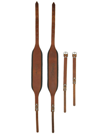 Handgemachte Rumberger Riemen für Steirische Harmonika - braun